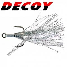 Decoy Fiber Treble FB-III- Gr.4 Drilling silber mit Fibern