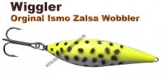 Ismo Zalsa Wobbler 20g Zitrogelb/wei&szlig mit schwarzen Punkten