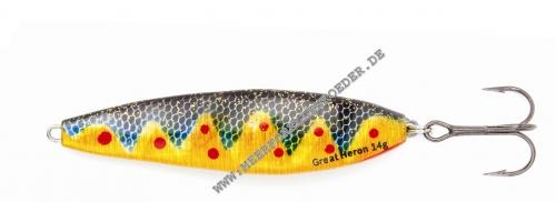 Angelsport Great Heron 18 g Chickenpox 77 mm