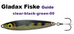 Guide-Wobbler - 20g - black - clear/green - black dots