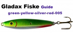 Guide Wobbler - 20g - green - yellow - silver - red