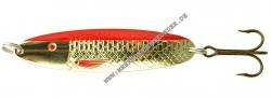 Søvik Sluken Blinker 60mm 14g Gold mit rotem Streifen