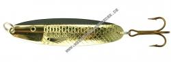 Søvik Sluken Blinker 60mm 14g Gold mit schwarzem Streifen