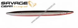 Savage Gear 3D Line Thru Sandeel 110 mm 15 g Sonderfarbe Black & Red UV