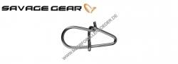 Savage Gear EggSnap Größe M 42 kg , Federstahl Einhänger und großem runden Auge