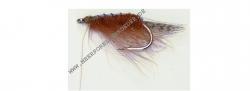 Scierra Loppen Saltwater Fly Gr.8 Rot Braun