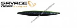 Savage Gear 3D Line Thru Sandeel 85 mm 11 g Black Yellow Glow