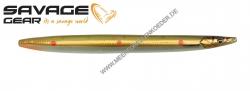 Savage Gear 3D Line Thru Sandeel 110 mm 15 g Motoroil Copper Red UV Dots