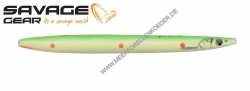 Savage Gear 3D Line Thru Sandeel 110 mm 15 g  Fluo Green Red UV Dots