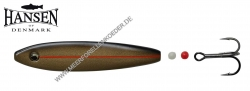 Hansen Hot Shot Inline SD  Scandinavian Design  75mm 18g  Black / Gold mit rotem UV Streifen