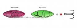 Hansen Snap Shot Inline SD  Scandinavian Design  44mm 7,6g  UV Pink / UV Green Cracking