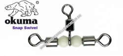 Okuma Rolling Pearl Swivel ( Kreuzwirbel / Dreiwegwirbel )  Size 8