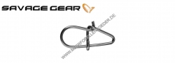 Savage Gear EggSnap Größe L 50 kg , Federstahl Einhänger und großem runden Auge