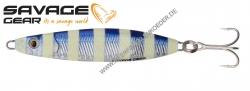 Savage Gear Psycho Sprat 73mm 35g Blue Glow Zebra