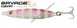 Savage Gear Psycho Sprat 80mm 45g Pink Glow Zebra