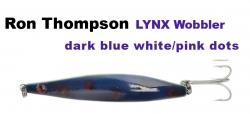 R.T. Lynx Wobbler 103 mm 26 g dark blue white/pink dots