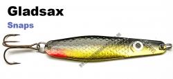 Gladsax Snaps Blinker - 25g - Schwarz / Gold mit rotem Schwanz