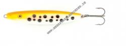 Kinetic Djurs Wobbler 77 mm 18 g orange / weiss mit  Punkten