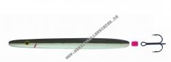 Kinetic Inline Soemmet 121 mm 28g Sinking Wedding , Olive / Pealweiss