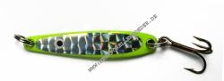 Flemmings Trumpf Blinker 80mm 21g fluo gelb silber Reflex