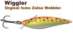 Ismo Zalsa Wobbler 20g Orange/gelb/weiß mit schwarzen Punkten