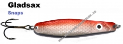 Gladsax Snaps Blinker - 20g - Rot Gold Metallic / Pealweiß