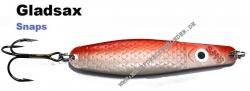 Gladsax Snaps Blinker - 30g - Rot Gold Metallic / Pealweiß