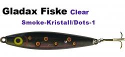 CLEAR-Wobbler -90mm  20g Schwarz/Transparent mit roten Punkten