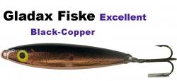 Excellent - Wobbler - 75mm 16g Black/Copper